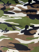 Cloth Face Mask - Classic Green Camo Print