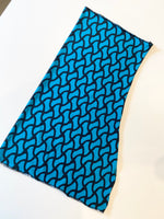 Sport Gaiter- Neck Warmer -Teal and Black