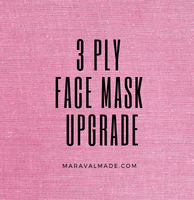 UPGRADE -3 Ply Face Mask