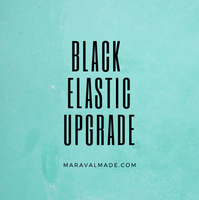 UPGRADE- Black Elastic - Black Ear Loops