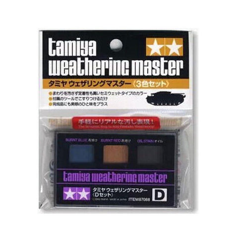Peinture Tamiya Weathering Master Type D Burnt-Blue Burnt-Red Oil-Stain - La bourse des jouets