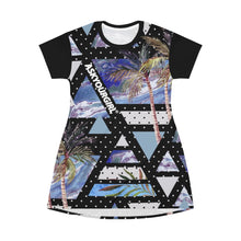 Load image into Gallery viewer, Geo Tropical T-Shirt Dress