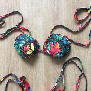 Toucan forest string bikini