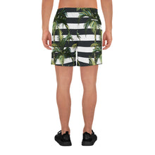 Load image into Gallery viewer, Stripey Palm Long Shorts
