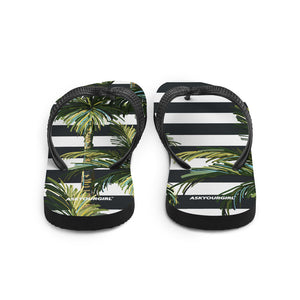 Stripey Palm Flip-Flops
