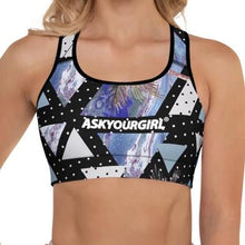 Load image into Gallery viewer, Geo Tropical Sports Bra