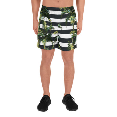 Stripey Palm Long Shorts