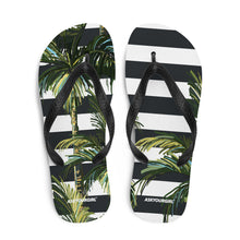 Load image into Gallery viewer, Stripey Palm Flip-Flops