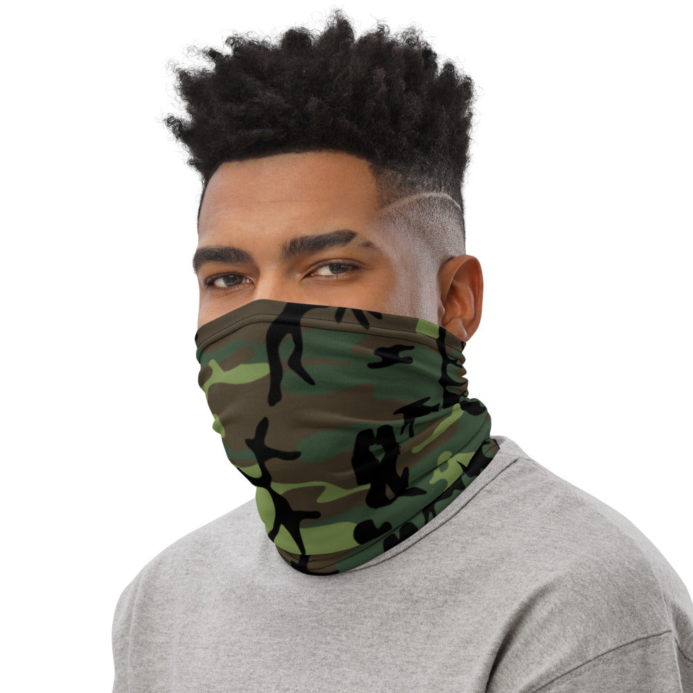 Forest camo face scarf