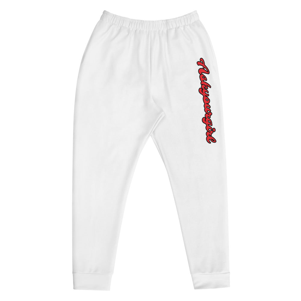 Askyourgirl Script white mens bottoms