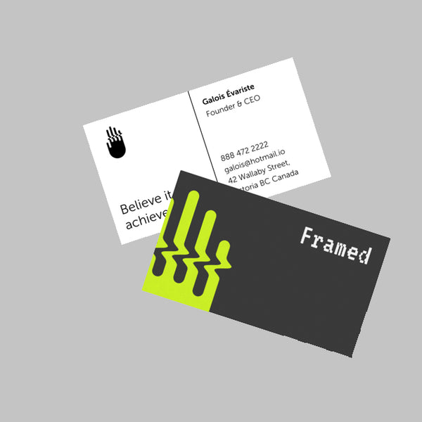 Business Cards - 450gsm Soft Touch Laminated - thunderprint