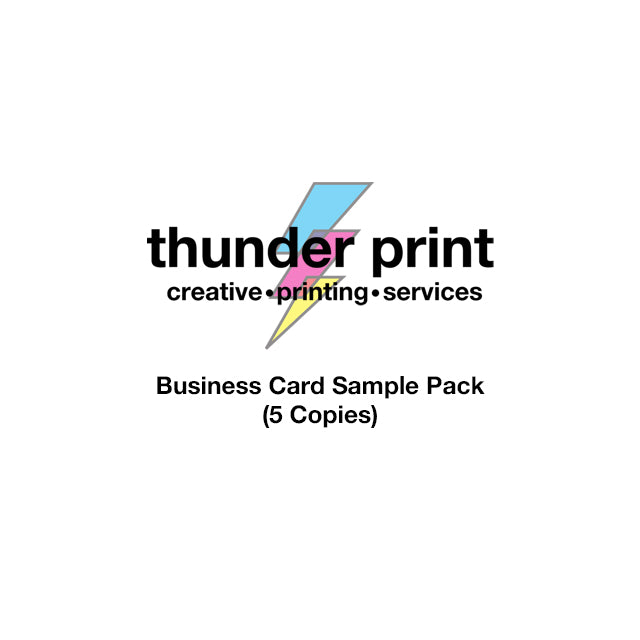 thunderprint Business Card Sample Pack (5 Copies)