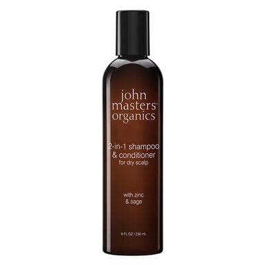 Bottle of John Masters Organics 2-1 Shampoo & Conditioner for Dry Scalp 8 Ounces