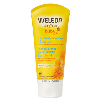 Bottle of Weleda 2-in-1 Gentle Shampoo + Body Wash - Calendula 6.8 Ounces