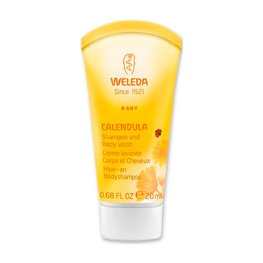 Bottle of Weleda 2-in-1 Gentle Shampoo + Body Wash - Calendula 0.68 Ounces