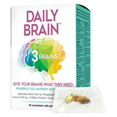 Box & Packet of 3 Brain Daily Brain 30 Packets