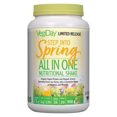 Container of VegiDay Step into Spring Organic All In One Shake & Go 900 Grams