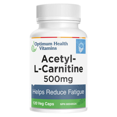 Bottle of Acetyl-L-Carnitine 120 Vegetable Capsules