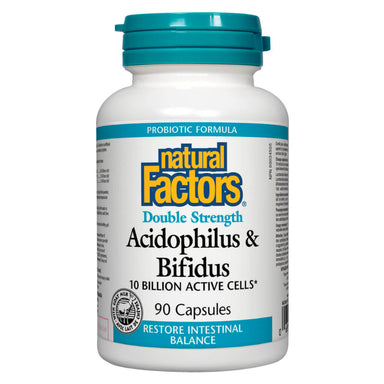 Bottle of Acidophilus & Bifidus Double Strength 10 Billion 90 Capsules