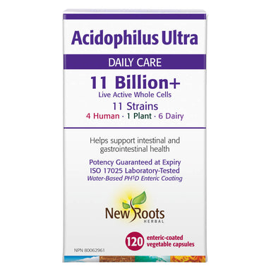 Box of Acidophilus Ultra Daily Care 11 Billion+ 120 Enteric-Coated Vegetable Capsules