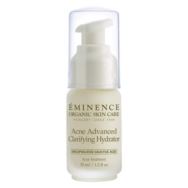Pump Bottle of Eminence Acne Advanced Clarifying Hydrator 1.2 Ounces