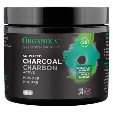 Bottle of Organika Activated Charcoal Powder 40 Grams