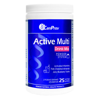 Tube of CanPrev Active Multi Drink Mix 219 Grams