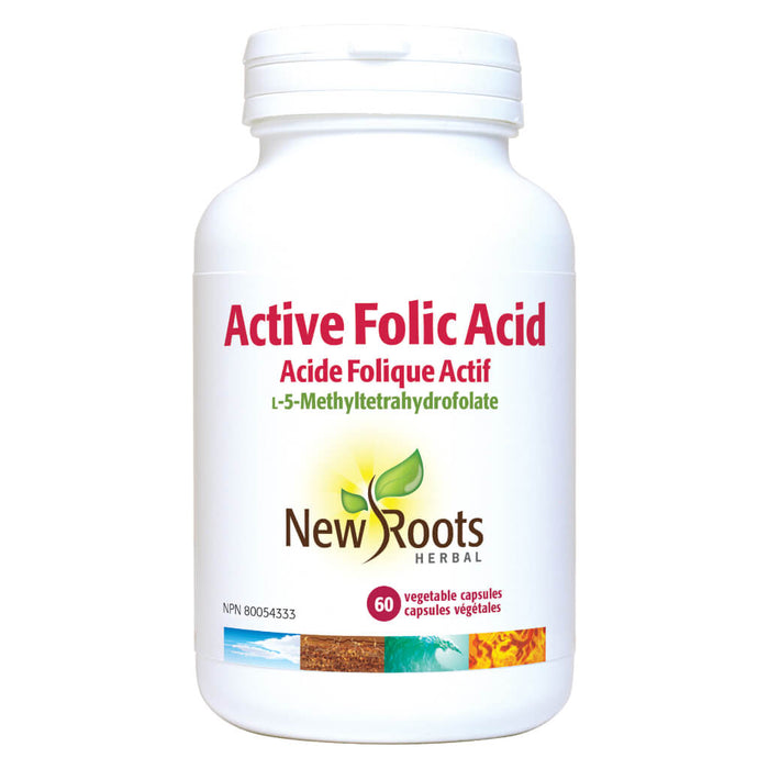 Bottle of Active Folic Acid 60 Vegetable Capsules