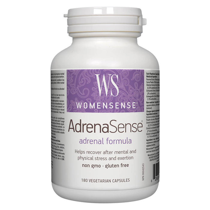Bottle of AdrenaSense 180 Vegetarian Capsules