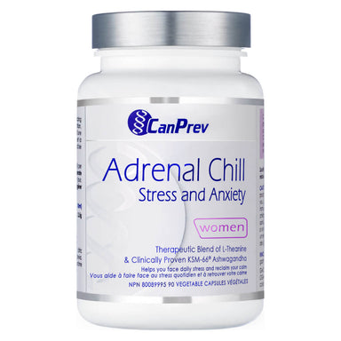 Bottle of Adrenal Chill 90 Vegetable Capsules