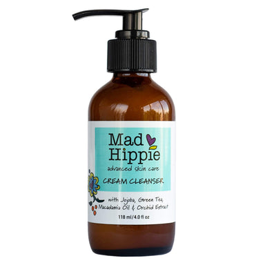 Pump Bottle of Mad Hippie Advanced Skin Care Cream Cleanser 118 Milliliters