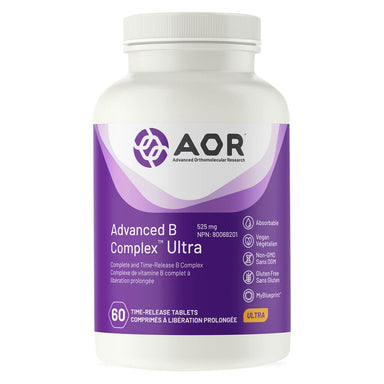 Bottle of AOR Advanced B Complex Ultra 525 mg