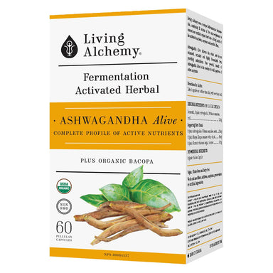 Box of Ashwagandha Alive 60 Capsules