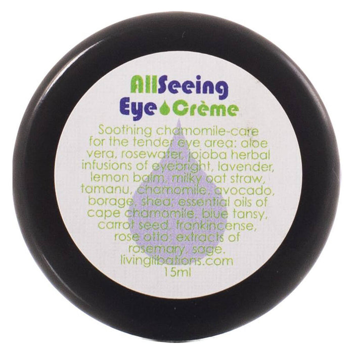 Jar of Living Libations All Seeing Eye Cream 15 Milliliters