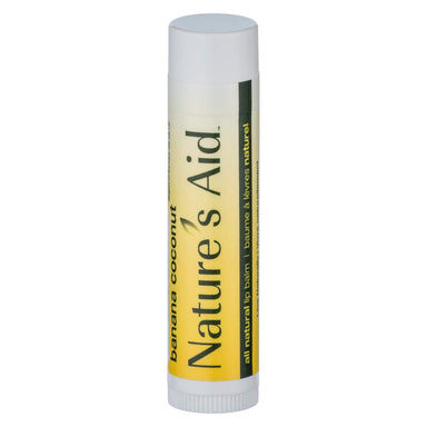 Tube of Nature's Aid True Natural Lip Balm Banana Coconut