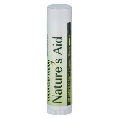Tube of Nature's Aid True Natural Lip Balm Cucumber Melon