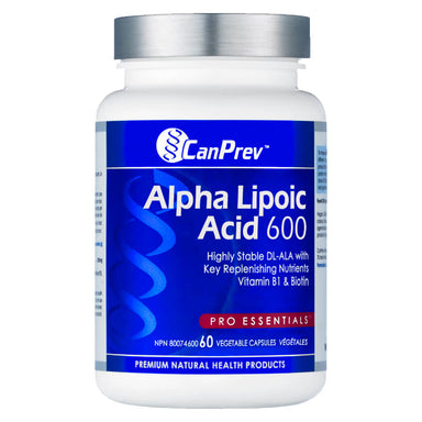 Bottle of Alpha Lipoic Acid 600 Milligrams 60 Capsules