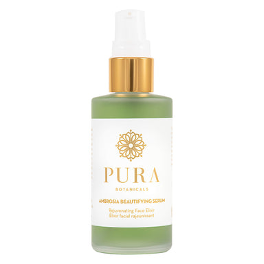 Pump Bottle of Pura Botanicals Ambrosia Beautifying Serum 1.8 Ounces