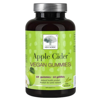 Bottle of New Nordic Apple Cider Vegan Gummies 60 Chewables