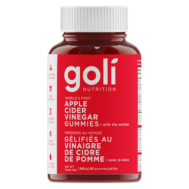 Bottle of Goli Apple Cider Vinegar Gummies 60 Chewables