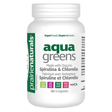 Bottle of Organic Aqua Greens 180 Vegetable Capsules