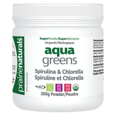 Container of Organic Aqua Greens 200 Grams