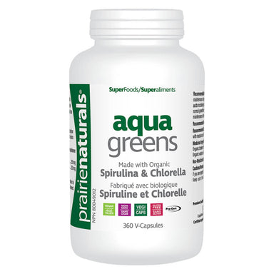 Bottle of Organic Aqua Greens 360 Vegetable Capsules