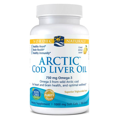 Bottle of Arctic Cod Liver Oil 90 Softgels