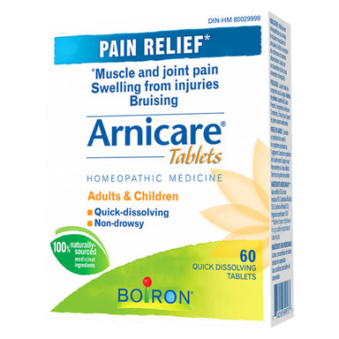 Box of Boiron Arnicare Tablets 60 Quick Dissolving Tablets