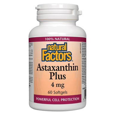 Bottle of Astaxanthin Plus 4 mg 60 Softgels