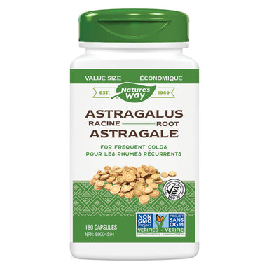 Bottle of Nature's Way Astragalus Root 180 Capsules