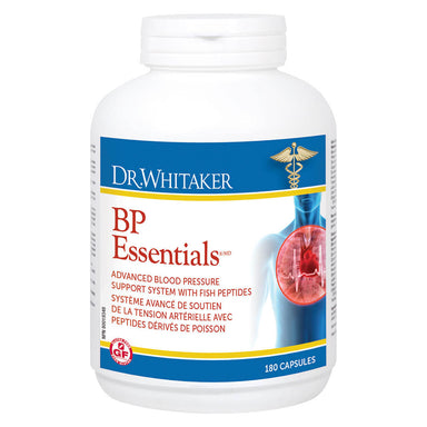 Bottle of Dr. Whitaker BP Essentials 180 Capsules