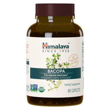 Bottle of Oreganic Bacopa 60 Caplets