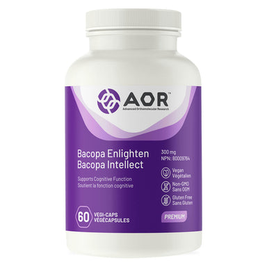 Bottle of AOR Bacopa Enlighten 300 mg 60 Capsules